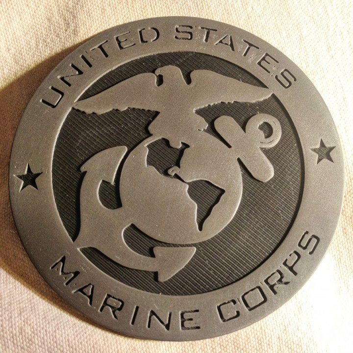 graphic about Printable Marine Corps Emblem identified as 3D Printable United Claims Maritime Corps Brand Insignia through