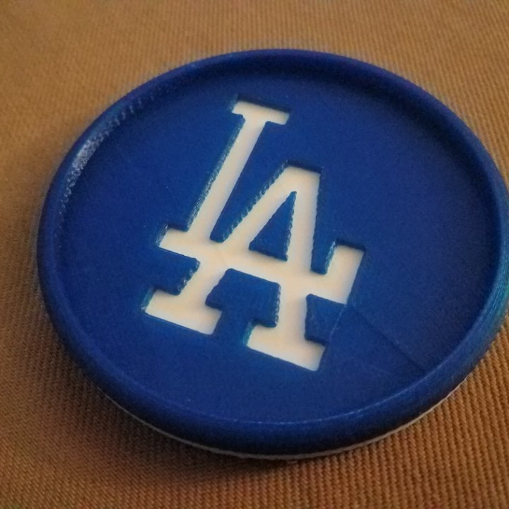 3d Printable La Dodgers Coaster By Jim Dewhurst