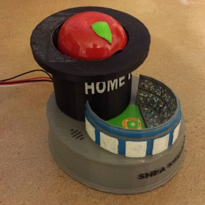 picture relating to Mets Printable Schedule known as 3D Printable NY Mets Residence Work Apple and Shea Stadium as a result of Jim