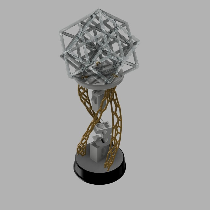 3D Printable 3D Printing Industry Awards 2018 Trophy by The3dNerd!