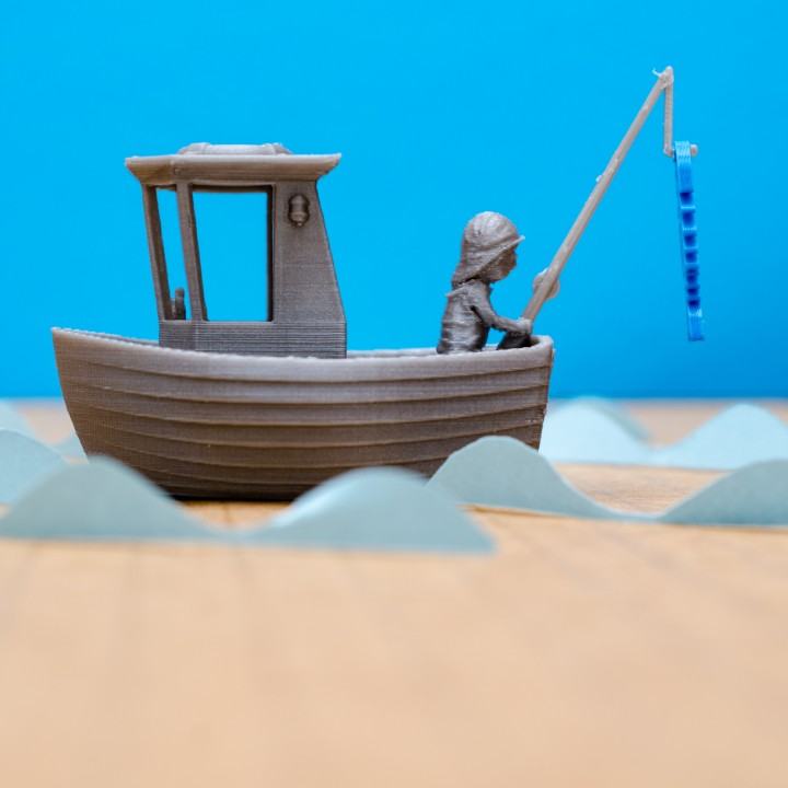 3d Printable Leo The Little Fishing Boat Visual Benchy