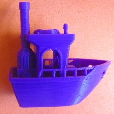 Picture of print of BEN the floating BENCHMARK (Benchy)