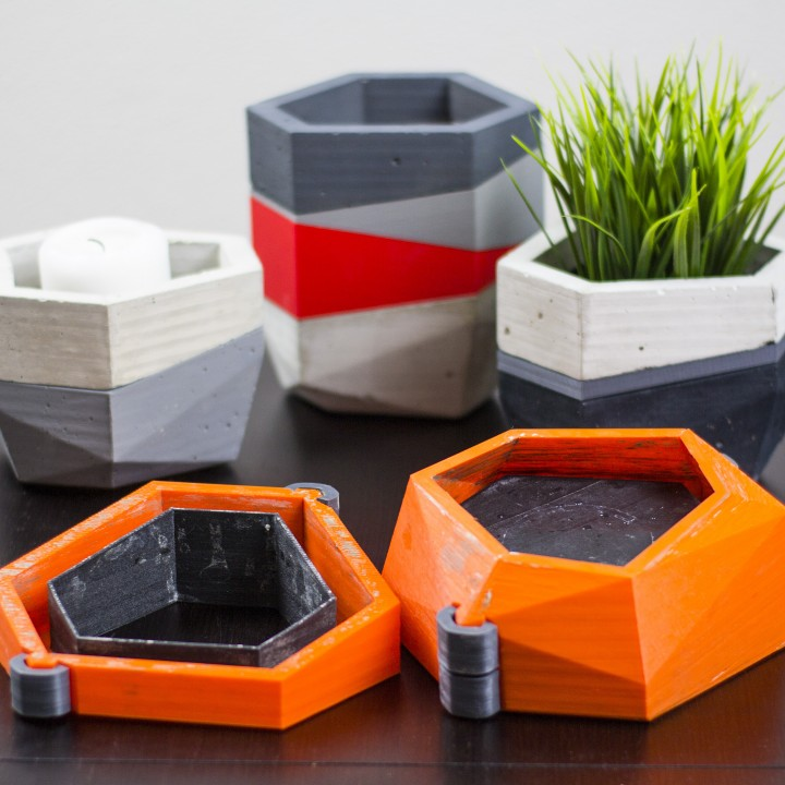 3d Printable Concrete Planters Mold By Duke Doks