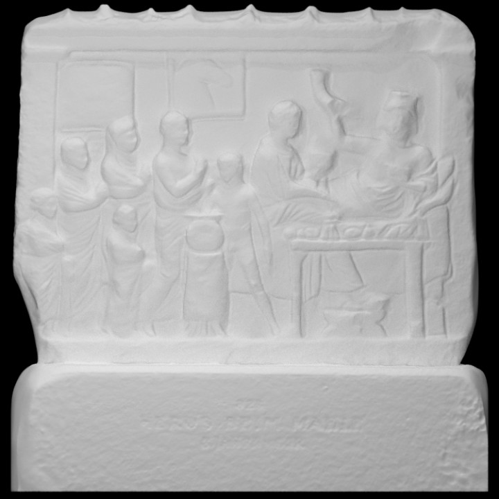Votive Relief with a Hero at the Banquet