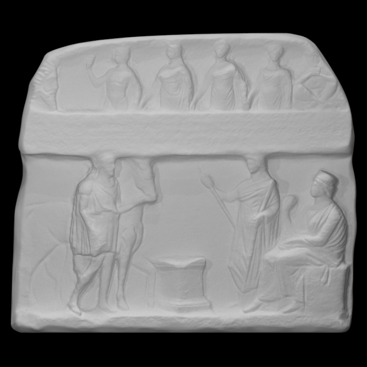 Votive Relief of Attic Washer Men and Women for the Nymphs