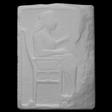 Grave or Votive Relief with an Enthroned Man