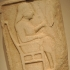 Grave or Votive Relief with an Enthroned Man image