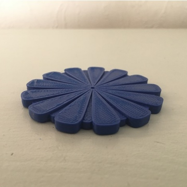 Flower design drinks coaster