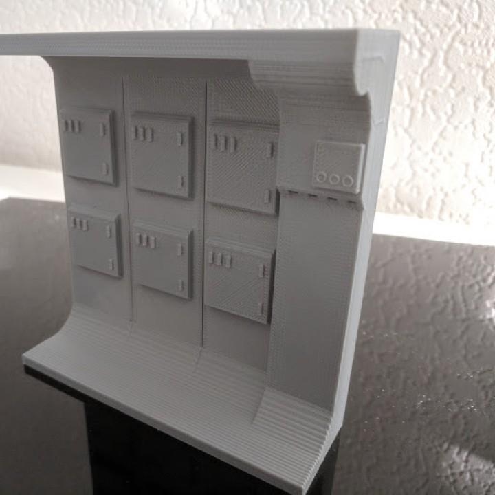 graphic regarding Diorama Backgrounds Free Printable named 3D Printable star wars Rebellion blockade runner interior