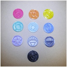 Picture of print of Lantern Corps ( ALL Corps LOGO's)