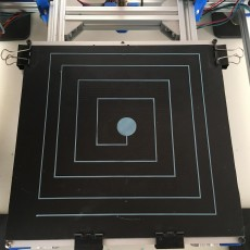 Picture of print of CR-10 Bed Level Test 这个打印已上传 Michele Paini