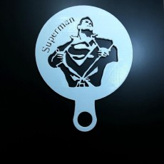 Picture of print of Coffee Stencil - Superman