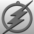 The Flash Logo Keychain image