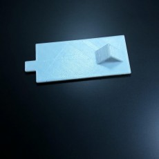 Picture of print of tv remote battery cover