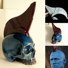 Yondu Fin to fit skull, Kind of.