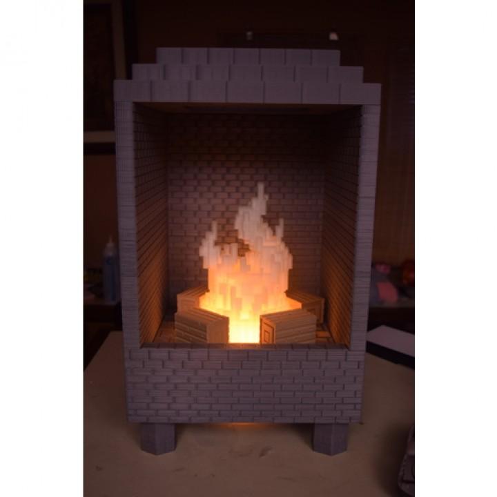 Minecraft/8-bit Led Fireplace