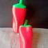 Chili Pepper Maracas print image