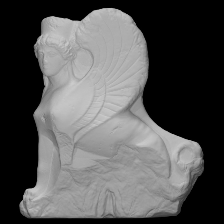 Sphinx-shaped Finial of a Funerary Stele