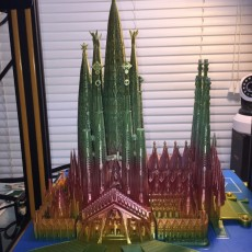 Picture of print of Sagrada Familia, Complete - Barcelona This print has been uploaded by Mike Kirkman