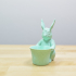 Easter Bunny Toy/Pot/Planter print image