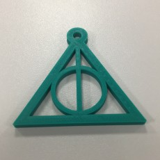 Picture of print of Deadly Hallows keychain harry potter