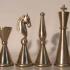 Cylindrical Chess Set image