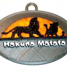 Hakuna Matata - Lion King Keychain