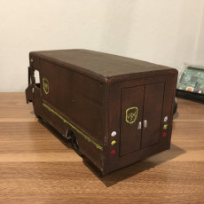 Picture of print of UPS Truck - Repaired Front Wheel