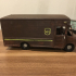 UPS Truck - Repaired Front Wheel print image