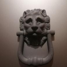 Picture of print of Lion Head Door Knocker (Wall Hanger)