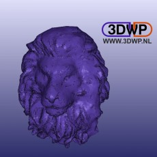 Lion Head Wall Hanger (Lion Sculpture 3D Scan)