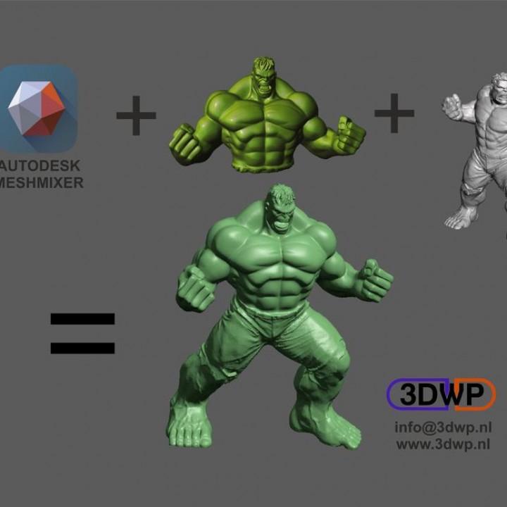 Hulk Sculpture (MeshMixer Combo)