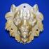 Metal Lion Head 3D Scan image