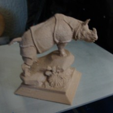 Picture of print of Rhino Statue 3D Scan (Alfred Jacquemart)