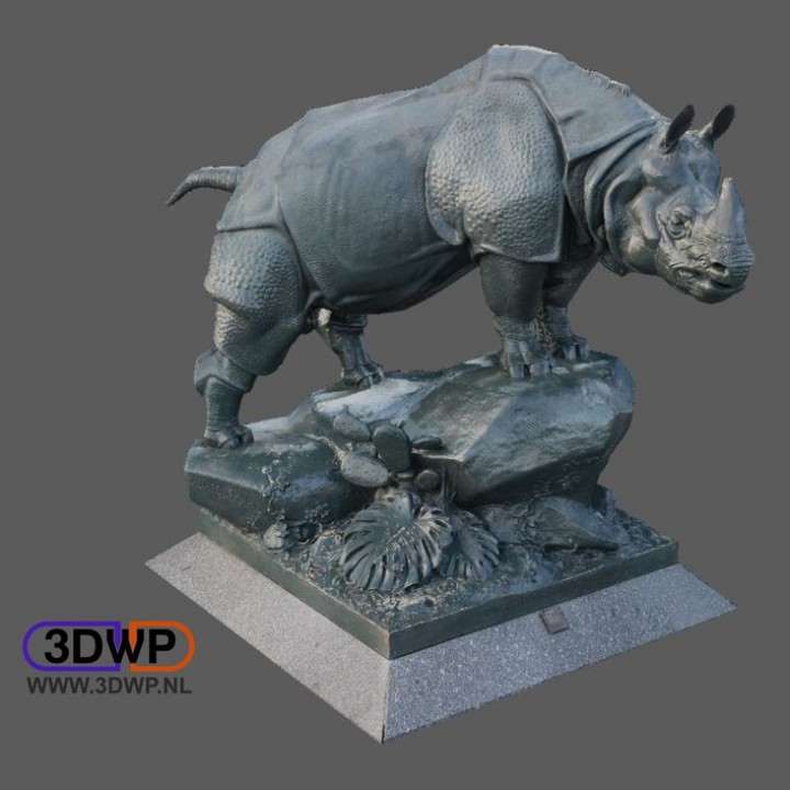 Rhino Statue 3D Scan (Alfred Jacquemart)