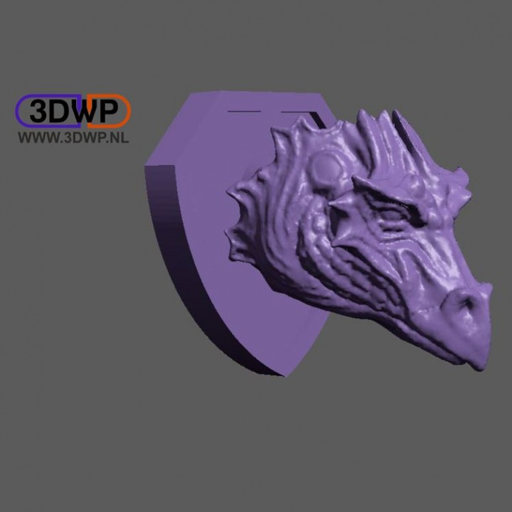 Dragon Head Wall Mount Trophy Image