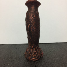 Picture of print of Fish Sculpture Vase