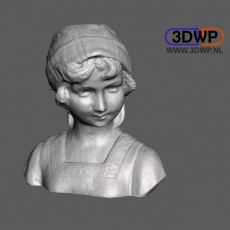 Dutch Girl Bust 3D Scan