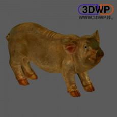 Pig Sculpture 3D Scan