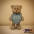 Teddy Bear Figurine ''I Love You'' 3D Scan image