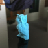 Owl Sculpture 3D Scan print image