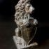 Lion Statue ''Welcome'' print image