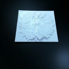 Picture of print of Green Man Bas Relief Wall Hanger