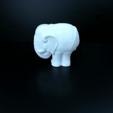 Picture of print of Elephant Sculpture