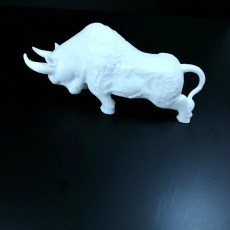 Picture of print of Bull Sculpture