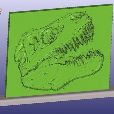 T-Rex Skull Lithophane With Stand