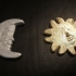 Sun And Moon Sculpture 3D Scan image