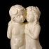 Boy And Girl Statue 3D Scan print image