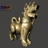 Fu Dog Statue 3D Scan (Chinese Guardian Lion/Thai Lion Singha Wood Carving Sculpture) image