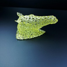 Picture of print of Horse Head Voronoi Style